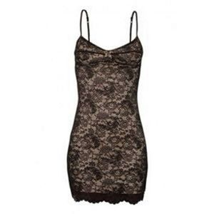 Aritzia Wilfred Juliette black bustier lace dress